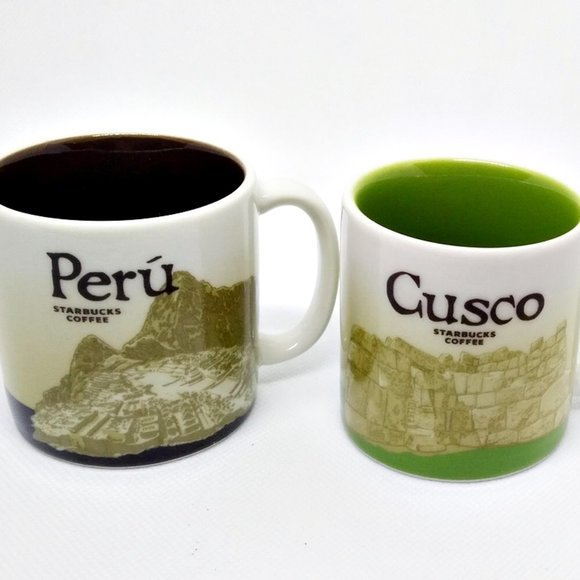Starbucks Other - 2 Starbucks Demitasse Espresso Cups Peru & Cusco